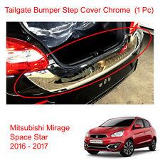 Tailgate Bumper Step Guard Cover Chrome Fit Mitsubishi Mirage Space Star 16 - 17