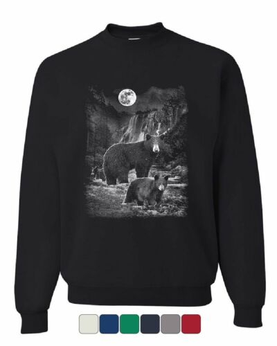 Bears in the Night Sweatshirt Brown Bear Grizzly Wilderness Animals Sweater