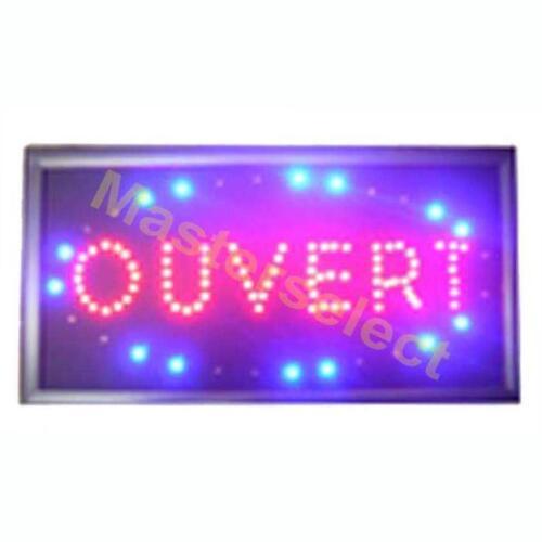 Pas Cher PANNEAU ENSEIGNE LUMINEUSE A LEDS OUVERT POUR COMMERCANT