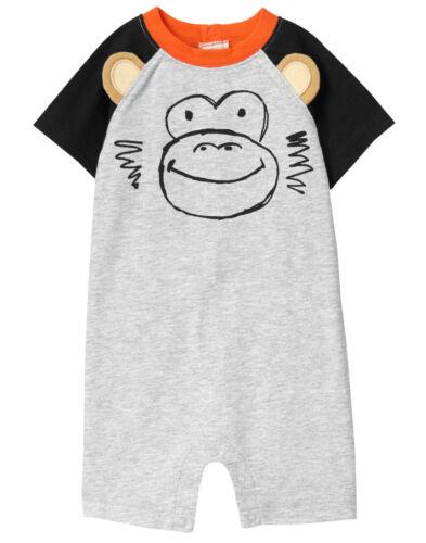 NWT Gymboree Jungle Jam Monkey Chimp Romper 1PC Baby Boy