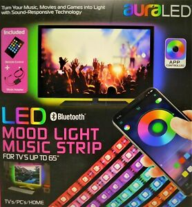 Details about Tzumi AuraLED Remote Controlled LED Mood Light Strip with  Smartphone App