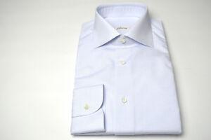 jurk shirt Eu se70 katoen Blauw 17 Brioni 43 Nieuw 100 VS Maat FwqvtP5P
