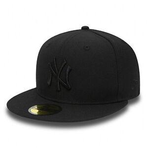 6438f3a4 NEW ERA New Black New York Yankees Cap 59Fifty Yankees Cap BNWT | eBay