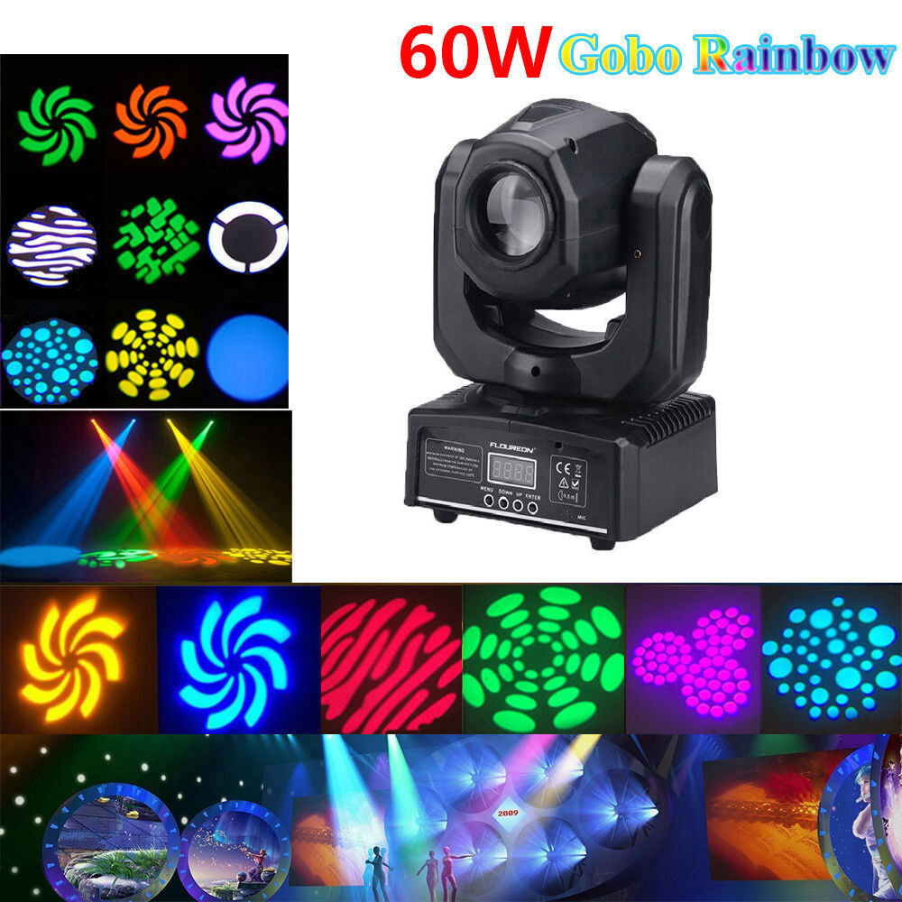 U`king 60W RGBW SPOT Gobo LED Stage Lights Moving Head DMX D