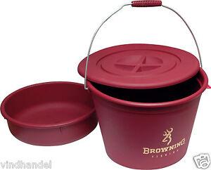 browning futtereimer eimer 30 liter mit deckel futterwanne und sieb ebay. Black Bedroom Furniture Sets. Home Design Ideas
