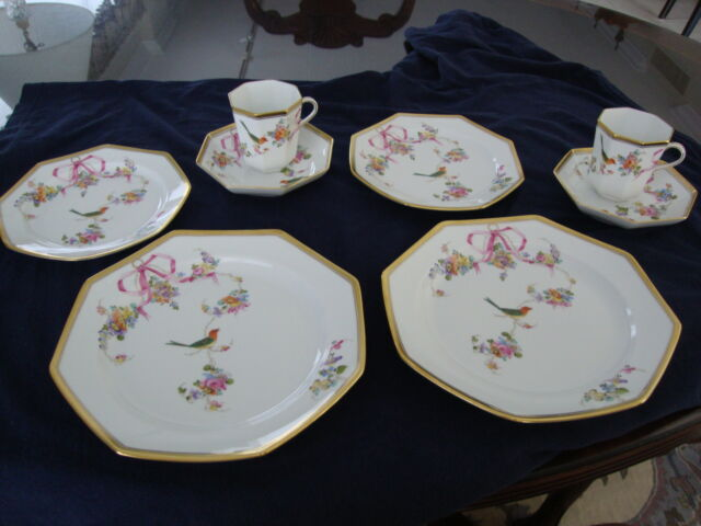 Herend RARE 4 pc. Luncheon Set in JM (Jardin Mediterranean) Pattern