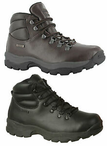 New-Mens-Hi-tec-Eurotrek-Waterproof-Full-Grain-Leather-Hiking-Boots-Size-6-14-UK