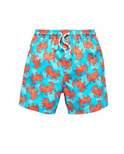 Ragazzi Blu Stampa Nuoto Pantaloncini Shorts Da Bagno Età 13-14 ANNI NUOVO