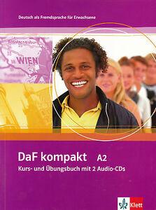 Klett-DaF-kompakt-A2-Kurs-und-Ubungsbuch-mit-2-Audio-CDs-GERMAN-FOR-ADULTS-NEW