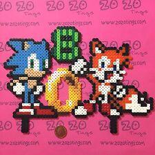 Sonic píxel Cumpleaños Pastel Topper