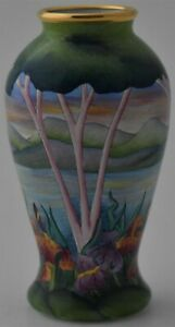 Beautiful-Moorcroft-Pottery-Enamels-Vase-Mountain-Landscape-Design