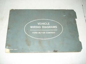 1963 FORD CAR & TRUCK WIRING DIAGRAMS ELECTRICAL SERVICE ...