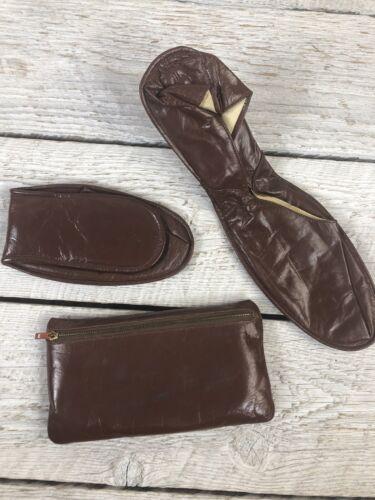 vtg 40's Streamline Men's 12 Slippers Leather Trav