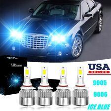 4PC 9005 9006 WHITE LED Headlight Kits Bulbs For Chrysler 300C 2009-05 8000K