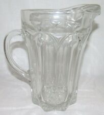 """Molded / Pressed Glass WATER PITCHER Beer, Iced Tea, Lemonade 8.5"""" Tall"""