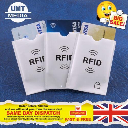 Rfid manches carte de crédit couvre id identité protecteur protection blocage portefeuille