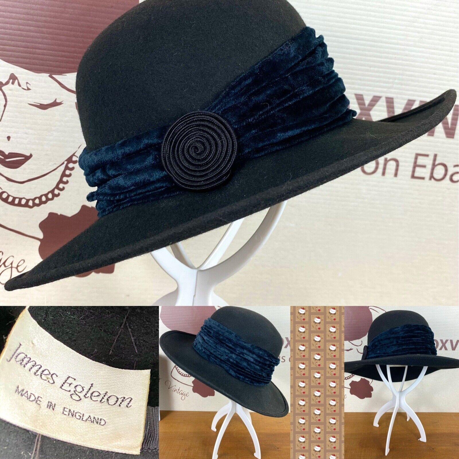 Black 100% Wool Felt Hat By James Egleton The British Hat Guild