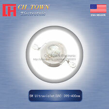 1pcs 5w Watt High Power Ultra Violet Uv 395 400nm Smd Led Chip Cob Lamp Lights