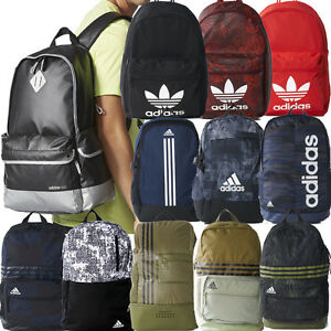 Image is loading ADIDAS-ORIGINALS-CLASSIC-BACKPACKS-ADIDAS-SCHOOL-BAGS-BLACK -