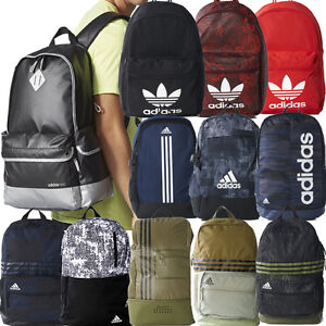 9558dce15d Image is loading ADIDAS-ORIGINALS-CLASSIC-BACKPACKS-ADIDAS-SCHOOL-BAGS -BLACK-