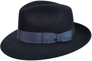 Country-Gentleman-240381-Mens-Wool-Wide-Brim-Fedora-Hat-Navy-Size-X-Large