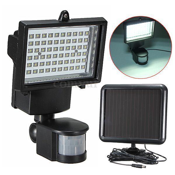 60 LED Solar Ultra Bright Motion Detection Sensor Security Garden Flood Light