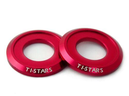 Washer M10 Aluminum Anodized Finishing Colorful Ti-STARS New design 10pcs Red