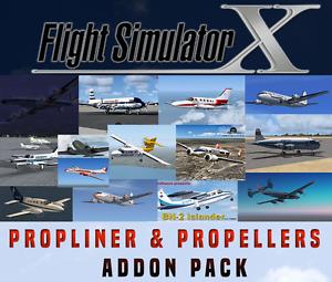 Flight-Simulator-X-FSX-Addon-Bundle-Propliners-amp-Propeller-Aircrafts-15-NEW
