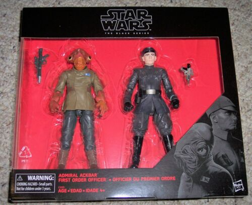 "Star Wars 6/"" Black Series ADMIRAL ACKBAR /& FIRST ORDER OFFICER 2-PACK TRU Sealed"