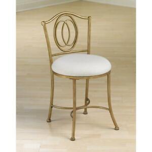 Details about Bedroom Vanity Stool Chair Elegant Glam Seat Makeup Dressing  Furniture Gold Fini