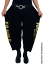 Indexbild 6 - MYO-Lagenlook schmale Ballonhose Jogpants Gold-Print 42 44 46 48 50 52 54 56