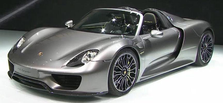 MINISTAMPS 2013 Porsche 918 Spyder grå 1 18 Extremt Sällsynt Givare Edition Herregud