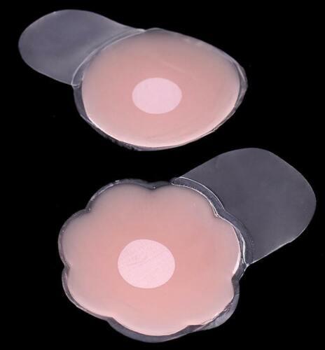 Silikon NippelCover ca 10cm Blume Kreis Brustwarzenabdeckung selbstklebend