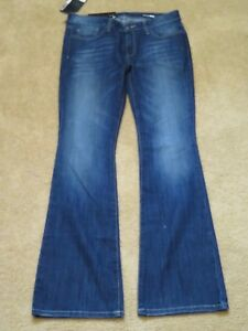 20ad3e7d5e451 New Women s William Rast Bootcut Jeans Dark Blue Denim Pants Size 30 ...