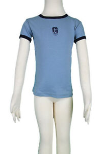 JACADI-Girl-039-s-Enfantin-Blue-Cotton-Tee-Shirt-w-Design-Size-10-Years-NWT-30