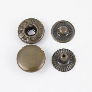 25 st.- 4 x 25 Teile ( 100 st.) Druckknöpfe TYP 54 /12,5 mm ALFA, , Antik
