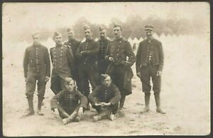 WW1-SOLDIERS-PLATOON-FRENCH-ARMY-MILITARY-WAR-ANTIQUE-PHOTO-RPPC-POSTCARD