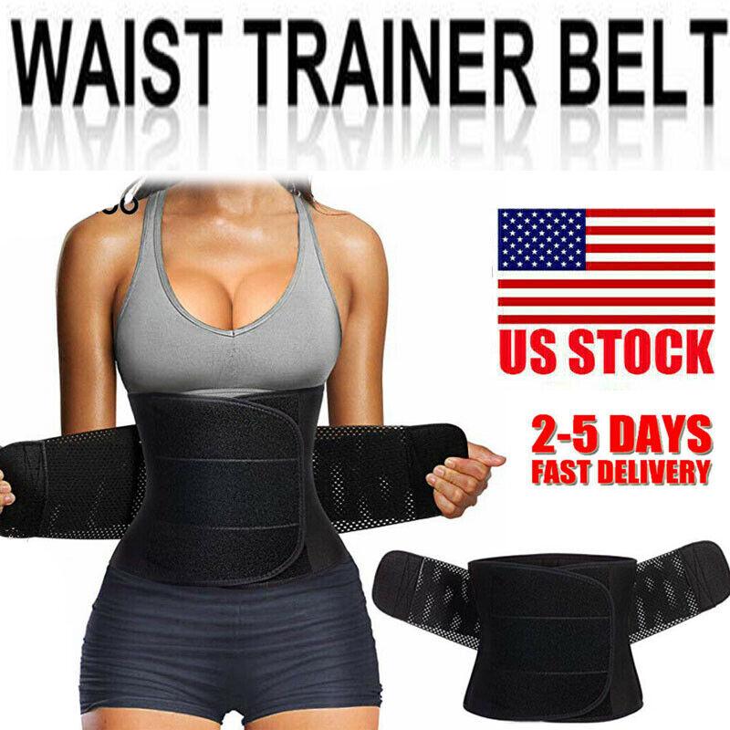 Voguad Womens Hot Sweat Waist Trainer Workout Sauna Band Slimming Body Shaper Belt Sport Girdle Belt