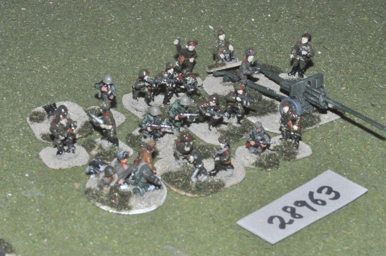 25mm WW2   russian - platoon 21 figures - inf (28963)