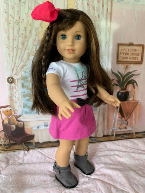 American Girl Grace, Retired Doll of the Year in Meet Outfit, Pierced Ears, EUC
