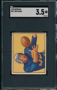 1950-Bowman-Football-Tom-Fears-ROOKIE-51-SGC-3-5-RAMS-VG-HOF