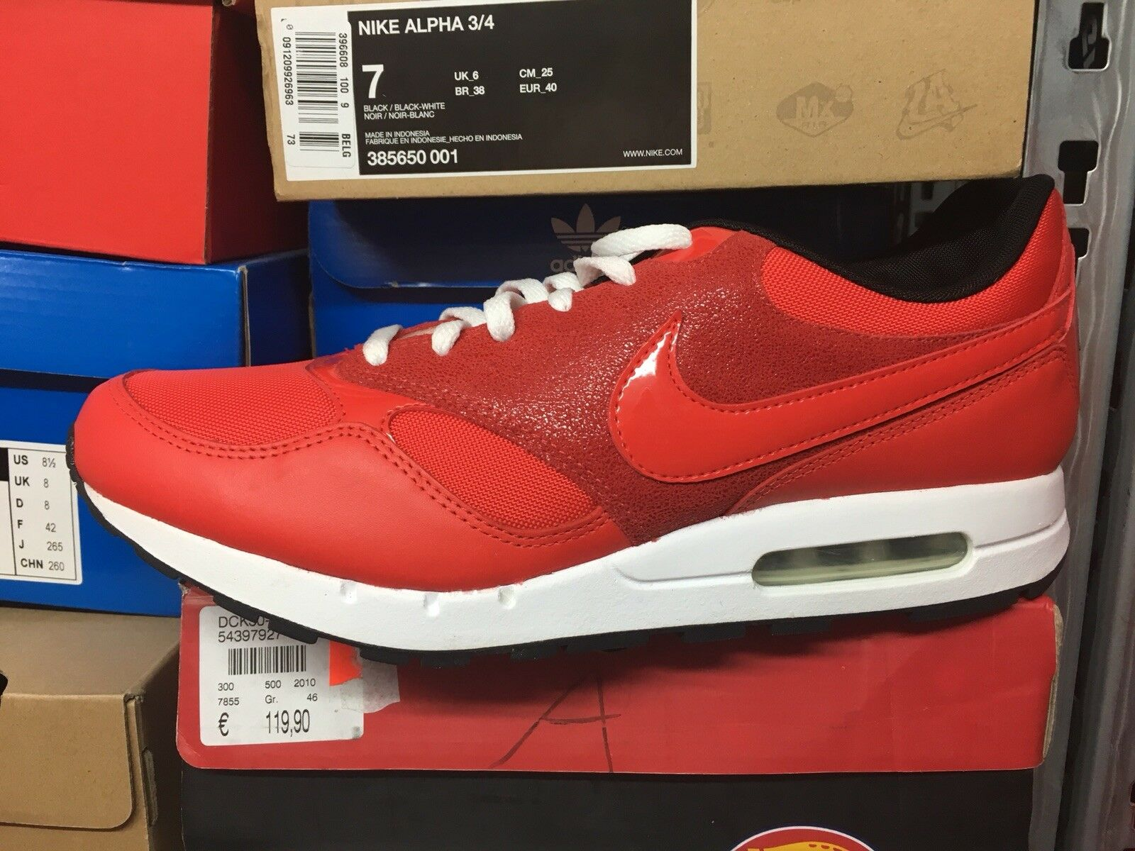 Nike AIR Zenyth Neu Max 90 95 97 Challenge NZ R4 Neu Gr:40,5 Challenge 97 ROT US:7,5 Sneaker 627255