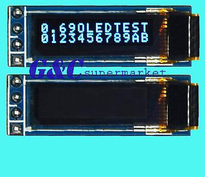 "Top 3V ~ 5.5V  0.69"" I2C 128x64 Monochrome OLED display module White"