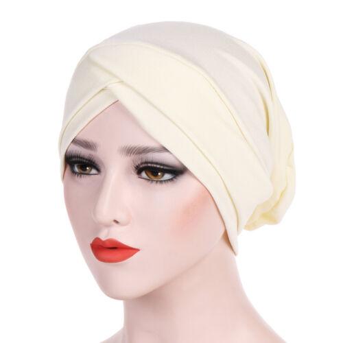 Les femmes musulmanes à volants Cancer Chimio Chapeau Bonnet Écharpe Turban Head Wrap Cap