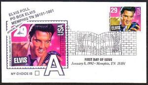 Elvis-Presley-2721-Elvis-Poll-Design-LabelFull-Color-Music-Cancel-FDC-LOT-303