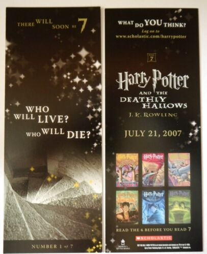 Who will die 1of7 Harry Potter Deathly Hallows Promo Bookmark Who Will Live