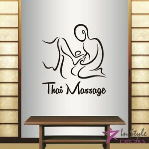 Vinyl Decal Thai Massage Spa Salon Relaxation Relax Therapy Wall