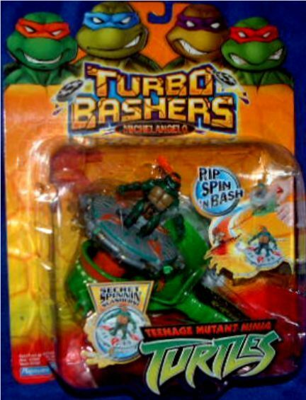 Teenage Mutant Ninja Turtles Turbo Bashers Michelangelo New Factory Sealed 2004