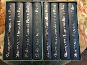 WILLIAM SHAKESPEARE, COMPLETE PLAYS, Folio Society, London, 1977, 8 Volumes
