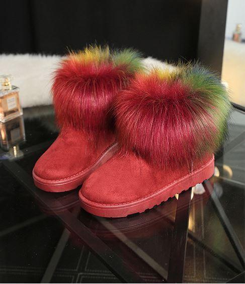 stivali stivaletti scarpe donna tacco 2 rosso colorati simil pelle  comode 8195